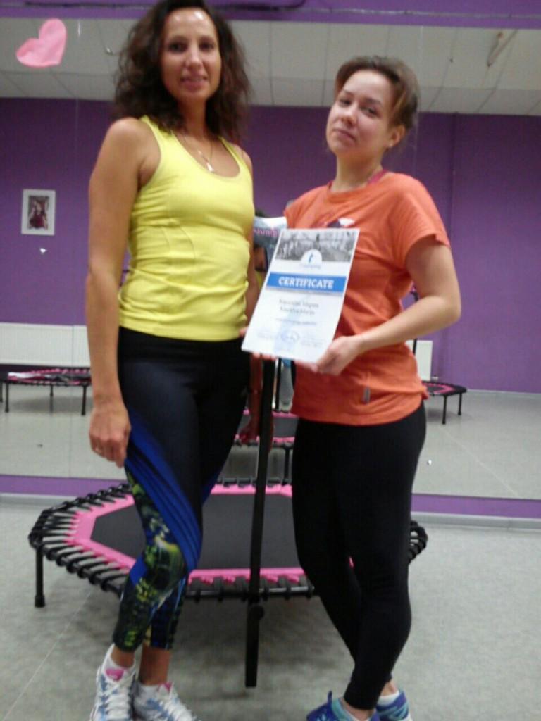 Сертификаты получили инструктора по фитнесу в Москве