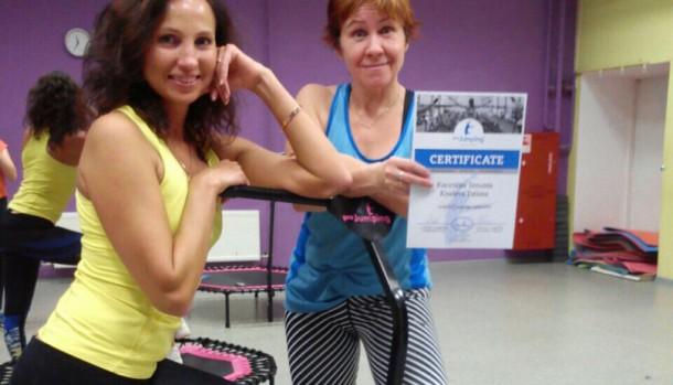 Обучение по фитнесу на батутах